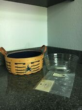 Longaberger Darning basket in blue with new prot and liner & tie on!