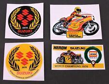 HERON TEAM SUZUKI 4 x Stickers     2,5,10,14