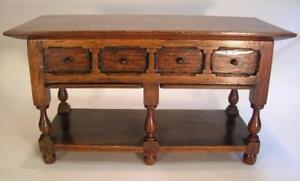 Antique Miniature Oak Sideboard.  Jacobean Style Novelty Box. C.1900. (41)