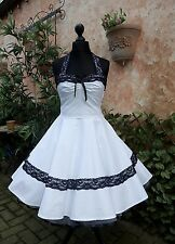 50er,Petticoat,Brautkleid,Tanz,Konfirmation,Abiball,Abend,Kleid,Dress,34-54 Maß