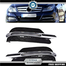 Pair LED DRL FOG LIGHT Lamp Cover for Mercedes Benz C-Class W204 C300 2011-2013