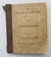 Life of Our Lord Charles Dickens 1934 Newspaper Serial Series Format Scrapbook