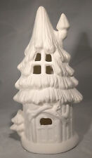 "Sugar Pine Townhouse Fairy House 8"" x 4"" Ceramic Bisque, Ready To Paint"