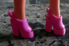 Barbie Doll Shoes Flamingo Dark Pink Platform High Heels Chunky