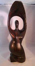 Mid-Century Ebony Woman Statue