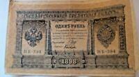 A lot of ruble banknotes  1, 3, 5, 10 / Russian Empire / tsar Nikolaj II