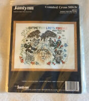 Janlynn Counted Cross Stitch kit When They're Gone Extinction last forever 80-87