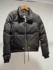 Superdry Women's size Medium Black Bomber Jacket Puffer quilted