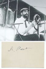 Augustus Post Aviation & Automotive Pioneer, Inventor, Writer Autograph 'Rare'