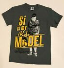 Men's Duck Dynasty Si Is My Role Model Short Sleeve T-Shirt Small S NEW