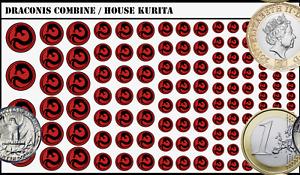 Battletech Waterslide Decals - Draconis Combine / House Kurita