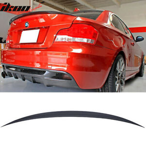 Fits 07-13 BMW 1 Series E82 Performance Painted Jet Black #668 Trunk Spoiler