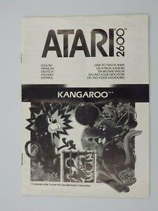 Manual Only Atari 2600 Kangaroo Booklet Manual UK Fr Of It Es