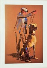 """Leroy Neiman Limited Edition Collectable Post Card - """"Great Dane"""""""""""