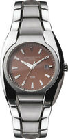 Brand New Kenneth Cole KC3607 Brown Dial Silver Tone Date Analog men's Watch