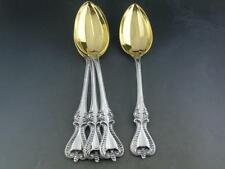 4 Sterling TOWLE Oval Soup / Dessert Spoons w/ gold washed bowls OLD COLONIAL