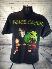 Alice Cooper Vintage Graphic Black T-Shirt Short Sleeve Men's Size L