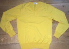 Mens Edifice Sweater. Wool. Yellow. Medium.