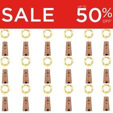 Bottle Fairy String Lights Battery Cork Shaped Christmas Wedding Party LED