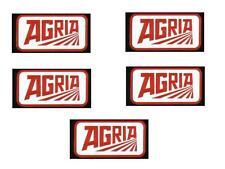 5 Agria Aufkleber alte Schriftzug Einachser 6,4x3,4cm mit Rahmen oder ohne Rahme