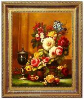 Ölbild Blumen Gemälde Blumenmotive Blumenmalerei ÖLGEMÄLDE HANDGEMALT 40x50cm