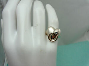 Tiffany & Co Heart & Loop Ring Sterling Silver 4.75 Sizable