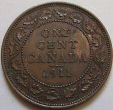 1911 Canada Large Cent Coin. EF++/AU GRADE (RJ504)