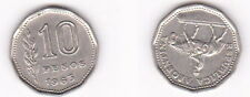 10 pesos 1963 Argentina-RARA MONETA DA ORIGINALE - 0449
