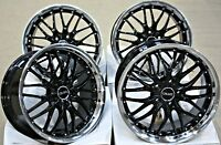"ALLOY WHEELS 4 X 18"" BLACK 190 FITS FORD 5X108 FOCUS MONDEO TRANSIT CONNECT EDGE"
