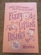 Dave Perillo Fizzy Lifting Drinks Willy Wonka Chocolate Factory Poster Mondo