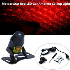 Meteor Star Red LED Car Ambient Ceiling Light Galaxy Lamp Projector w/ USB Cable