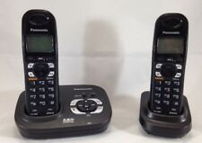 Set of 2 Panasonic KX-TG4321B 5.8GHz Digital Cordless Phone Expandable PNLC1001