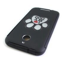 CoverON® for HTC Desire 510 Case - Hard Slim Hybrid Phone Cover - Black Dog Paw