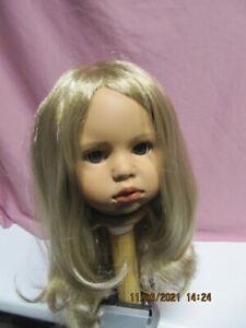 Puppen-Perücke, blond, KU 42-44 cm, Kunsthaar
