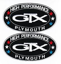PLYMOUTH GTX SEW/IRON ON PATCH BADGE EMBLEM EMBROIDERED MOPAR HEMI CAR