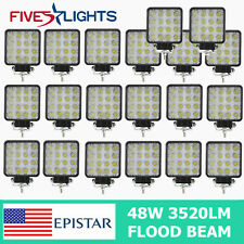 20X 48W 12V Pods Led Work Light Boat Flood Tractor Truck Offroad SUV UTE 4WD ATV