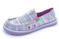 New Without Box Sanuk Womens Multi Color Striped Slip On Donna Slippers US 5