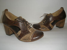 AREA FORTE DISTRESSED LEATHER SHOES SIZE US 8 EUR 38 NICE MADE IN ITALY $280