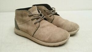 Crocs Kinsale Mushroom/Cobblestone Suede Leather Chukka Boot Lace-up Shoe Men 8