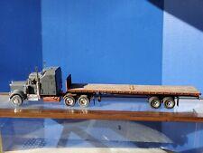 Revell Kenworth W-900 Tractor Trailer Custom Built Wood Plastic 1:25 Scale Truck