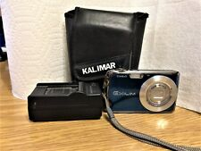 BLUE Casio EXILIM EX-S5 10MP Digital Camera w/ Battery + Charger + Case