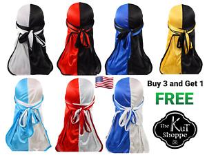 Silky Two-tone Durag Silky Two Tone Wave Cap Silky Do-rag Headwrap Turban