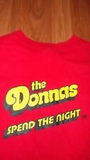(2 Sided) SIMPLE PLAN & The DONNAS promo T-Shirt Med Atlantic Records Rock Band