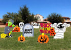 9 Pcs Halloween Outdoor Decorations, Corrugate Yard Stake Signs for Lawn Yard P