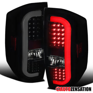 For 2014-2020 Toyota Tundra LED Sequential Signal Glossy Black Smoke Tail Lights