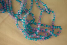 50 Blue/Mauve-Pink Glass Beads 6mm #g3948 Combine Postage-See Listing