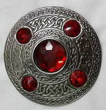 Celta Broche para Tela Escocesa Piedra Roja Acabado Avejentado Escocés Kilt &