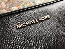 "Michael Kors Black Leather Sleeve Laptop Case For 13"" MacBook Air Broken Zipper"