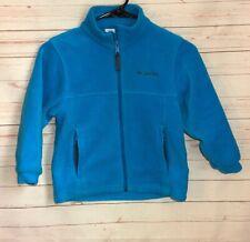 Columbia Youth Size 6/7 Blue Zip Up Fleece Jacket