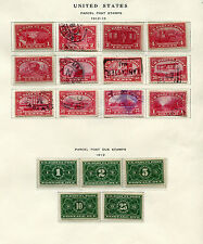 Collection of 78 United States Back of Book Parcel Post Stamps Cat Value $1100